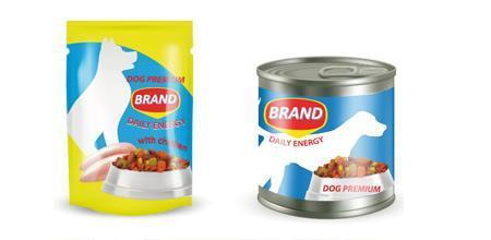 Tierfutter-Etiketten