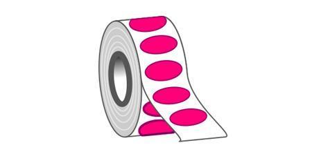 Etiketten oval drucken